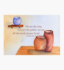 The Creative Potter- Isaiah 64:8 Photographic Print