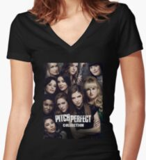 Pitch Perfect Hot Collection Women's Fitted V-Neck T-Shirt