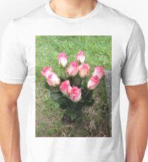 Pink & White Roses Unisex T-Shirt