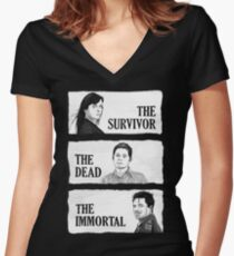 Torchwood - The Survivor, The Dead, The Immortal Women's Fitted V-Neck T-Shirt