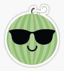 Watermelon Emoji Cool Sunglasses Sticker