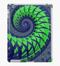 Seattle Blue and Green Spiral Fractal iPad Case/Skin