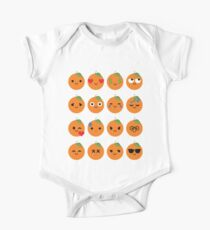 Orange Emoji Different Facial Expression Kids Clothes