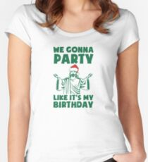 Party Like It's A Christmas Birthday Women's Fitted Scoop T-Shirt