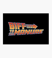 Biff To The Manure Photographic Print
