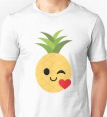 Pineapple Emoji Flirt and Blow Kiss T-Shirt