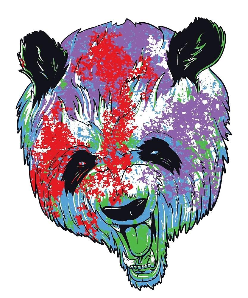 cute colorful panda bear by gemacio redbubble