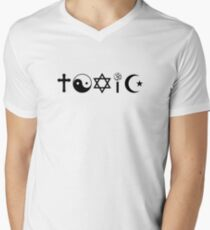 Religion Is Toxic Freethinker Men's V-Neck T-Shirt