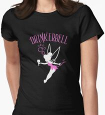 Drinkerbell pink color Women's Fitted T-Shirt