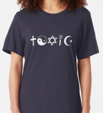 Religion Is Toxic Freethinker Slim Fit T-Shirt