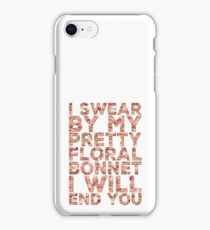 By My Pretty Floral Bonnet iPhone Case/Skin