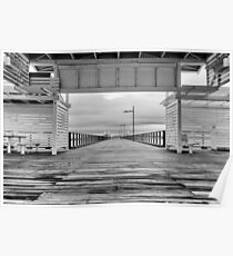 Woody Point Jetty. Black and White. Poster