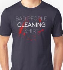 Bad People Killing Typography Sentence Unisex T-Shirt