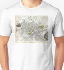 Plan of Edinburgh, Scotland - 1834 Unisex T-Shirt