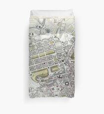 Plan of Edinburgh, Scotland - 1834 Duvet Cover