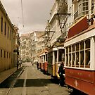 Downtown Lisbon by Edwin Davis