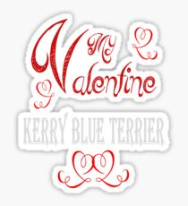 A Valentine Shirt with Kerry Blue Terrier Sticker