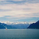 Sailing on Lake Geneva by Edwin Davis
