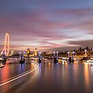 Sunset on the Thames - London by Mattia  Bicchi Photography