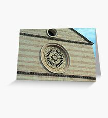 Rosette from church in Assisi, Italy Greeting Card