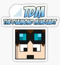 DanTDM Diamond Minecart Sticker