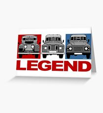 Land Rover Discovery evolution Greeting Card