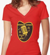 Gimme Some Rock&Roll! Women's Fitted V-Neck T-Shirt