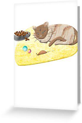 Sleeping Cat by RosiLorz