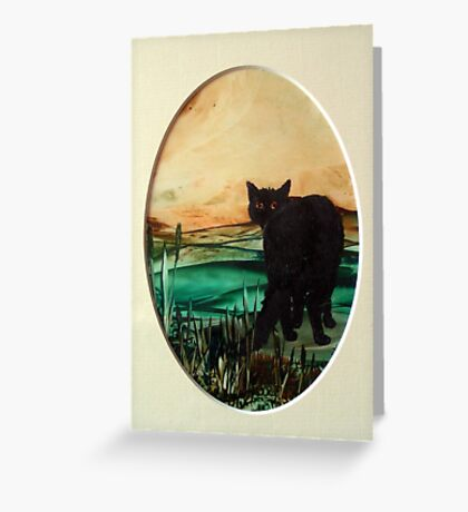 Farewell safe journey. Greeting Card