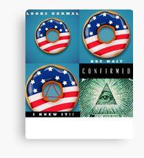 Illuminati Confirmed Canvas Print
