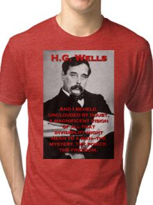 And I Beheld - HG Wells Tri-blend T-Shirt