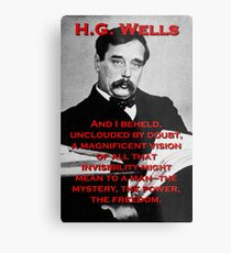 And I Beheld - HG Wells Metal Print