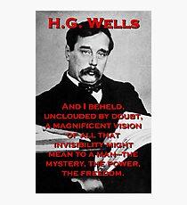 And I Beheld - HG Wells Photographic Print