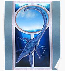 Elasmosaurus Noveau Poster