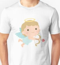 Cute Cupid Angel Halo Wings Bow Arrow Valentine Gift Unisex T-Shirt