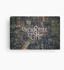 New York City Photo Typography Cool Vintage Design Canvas Print