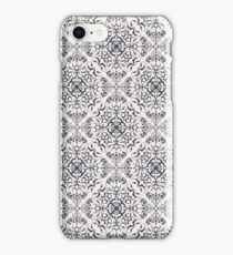 Ornate floral pale pattern iPhone Case/Skin
