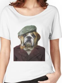 Hipster Dog Pet Animal Women's Relaxed Fit T-Shirt