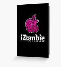 Apple iZombie -pink- Greeting Card