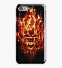 Flaming Skull iPhone Case/Skin