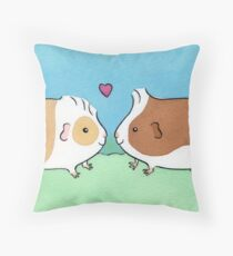 Guinea-pig Sweethearts #2 Throw Pillow