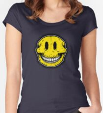 Smiley Skull Sketch Women's Fitted Scoop T-Shirt