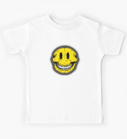 Smiley Skull Sketch Kids Clothes