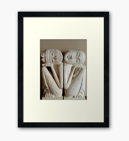 Balinese Dreamers together united in dreams. Framed Print