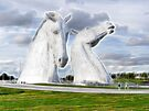 the Kelpies neon glow  , Helix Park , Grangemouth  by David Rankin