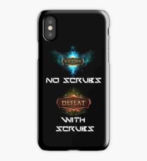 Victory and defeat - black  iPhone Case/Skin