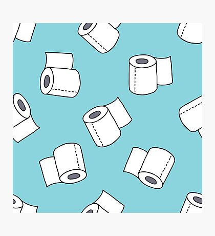 doodle pattern. toilet paper Photographic Print