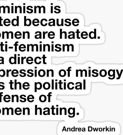 Andrea Dworkin Sticker