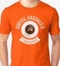 Coffee, Casuals & Consoles Unisex T-Shirt