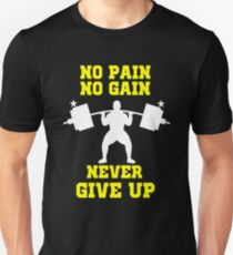 Personal Trainer Gym Gear No pain No Gain coach exercise weights T-Shirt